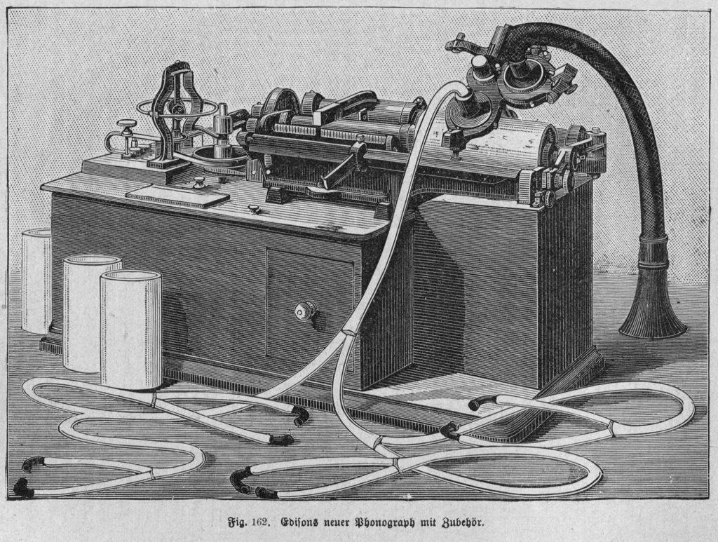 Edison Class M Phonograph mit elektrischem Antrieb