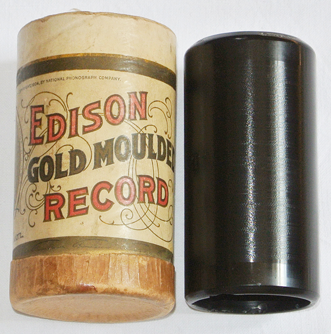 Edison Goldguss Walze Ragtime Orchester Phonograph Wachs