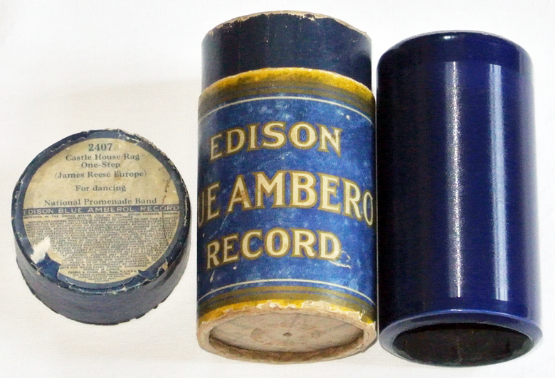Edison Blue Amberol Celluloid Walze Ragtime Orchester