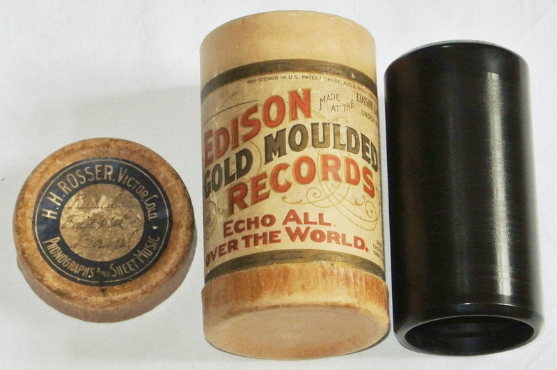 Edison Goldguss Walze Wachs Ragtime Cakewalk Phonograph