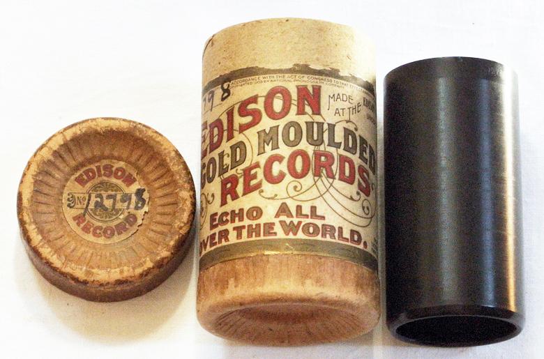 Edison Gusswalze Lied Phonograph