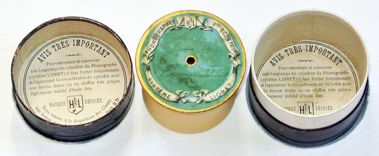 Lioret Celluloid Walze Chanson Phonograph