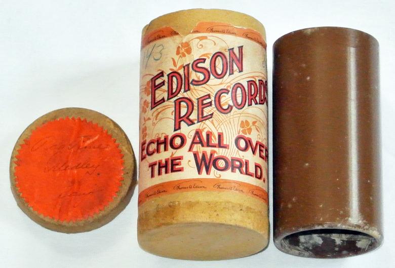Weichwachs Walze Edison Ragtime Phonograph Banjo